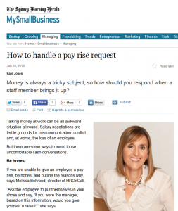 How to handle a payrise